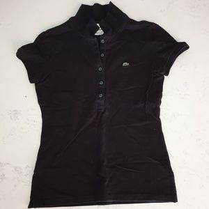 Lacoste Black shirts short slv collar shirts golf
